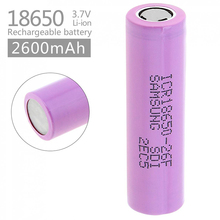 New 3.7V 2600mAh Rechargeable 18650 Li-ion Battery Original Lithium For Samsung ICR18650 26F Batteries