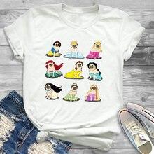 Футболка футболки модные женские с принтом собаки одежда забавным