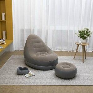 Image 2 - 屋外インフレータブルソファ屋内用小型ソファ怠惰なソファチェア群がっスツールシングルソファベッドラウンジチェア