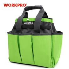 WORKPRO Garden Tool Bag Outdoor and Indoor Hand Bag for Garden Tool Kits with 8 Oxford Pockets