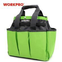 Workpro jardim ferramenta saco de mão ao ar livre e indoor para kits de ferramentas de jardim com 8 bolsos oxford