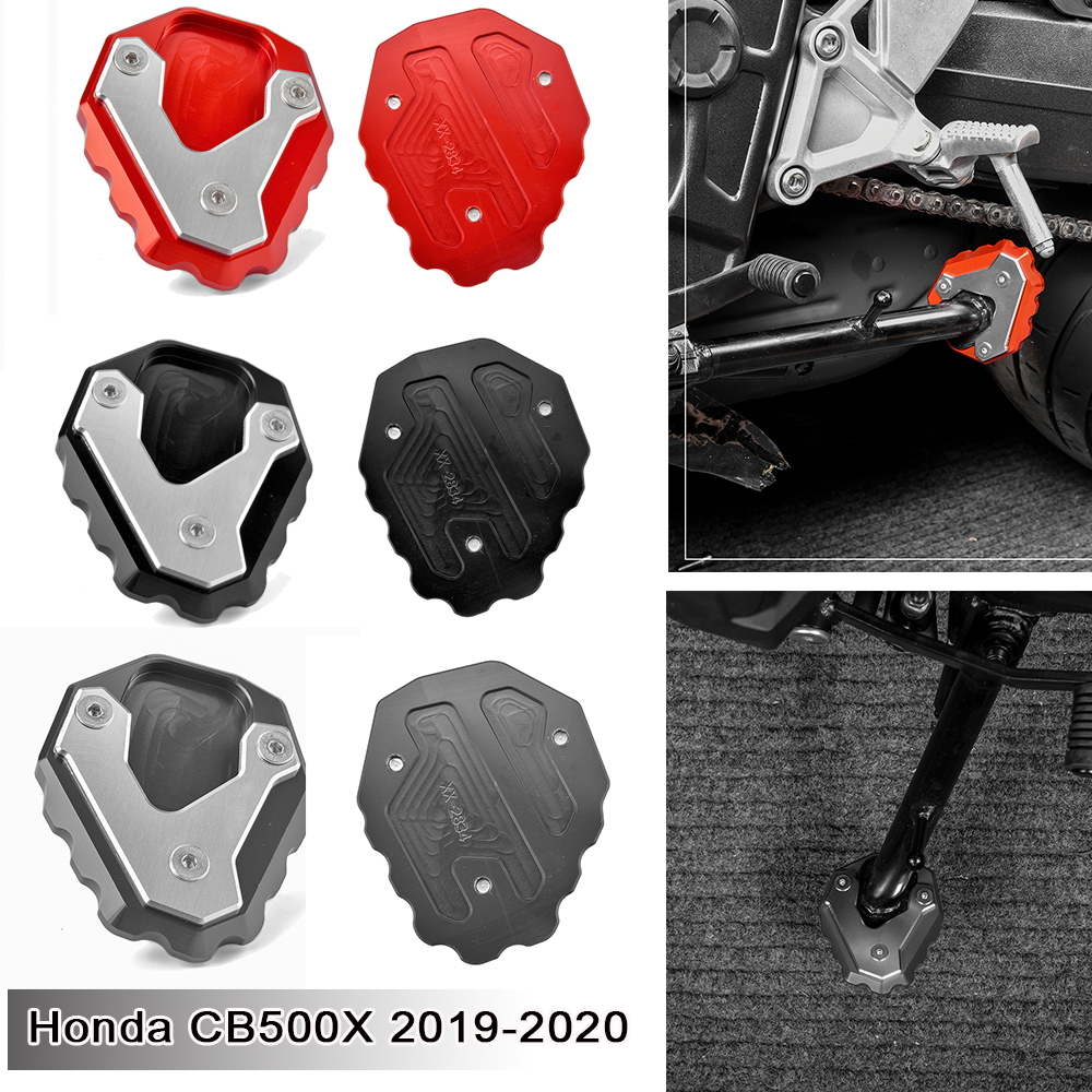Side Stand Moto Bike Kickstand Non-slip Plate Side Enlarge Extension Support Foot Pad Base for Honda CB500X CB-500-X 2019 2020