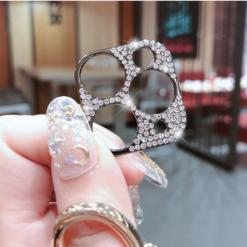 Bling Diamond Glitter Rhinestone Camera Protective Lens For iPhone 11 Pro Max Ring 1