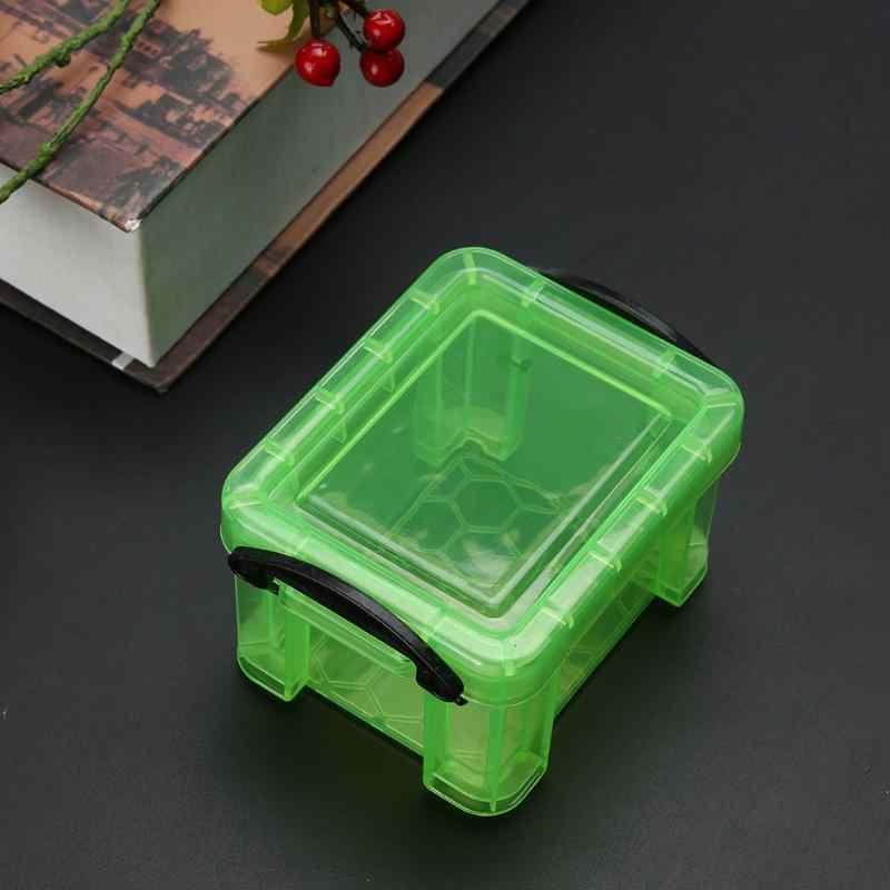 Мини-замок, Настольный ящик, пластиковый ящик для хранения, коробка для хранения сережек, яркие цвета, ювелирные украшения для интерьера дома, органайзер для домашнего стола