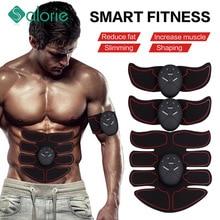 2/4/6/8pcs Wireless Hip Trainer Abdominal machine electric muscle stimulator ABS ems Trainer Body slimming Massage Belt Unisex