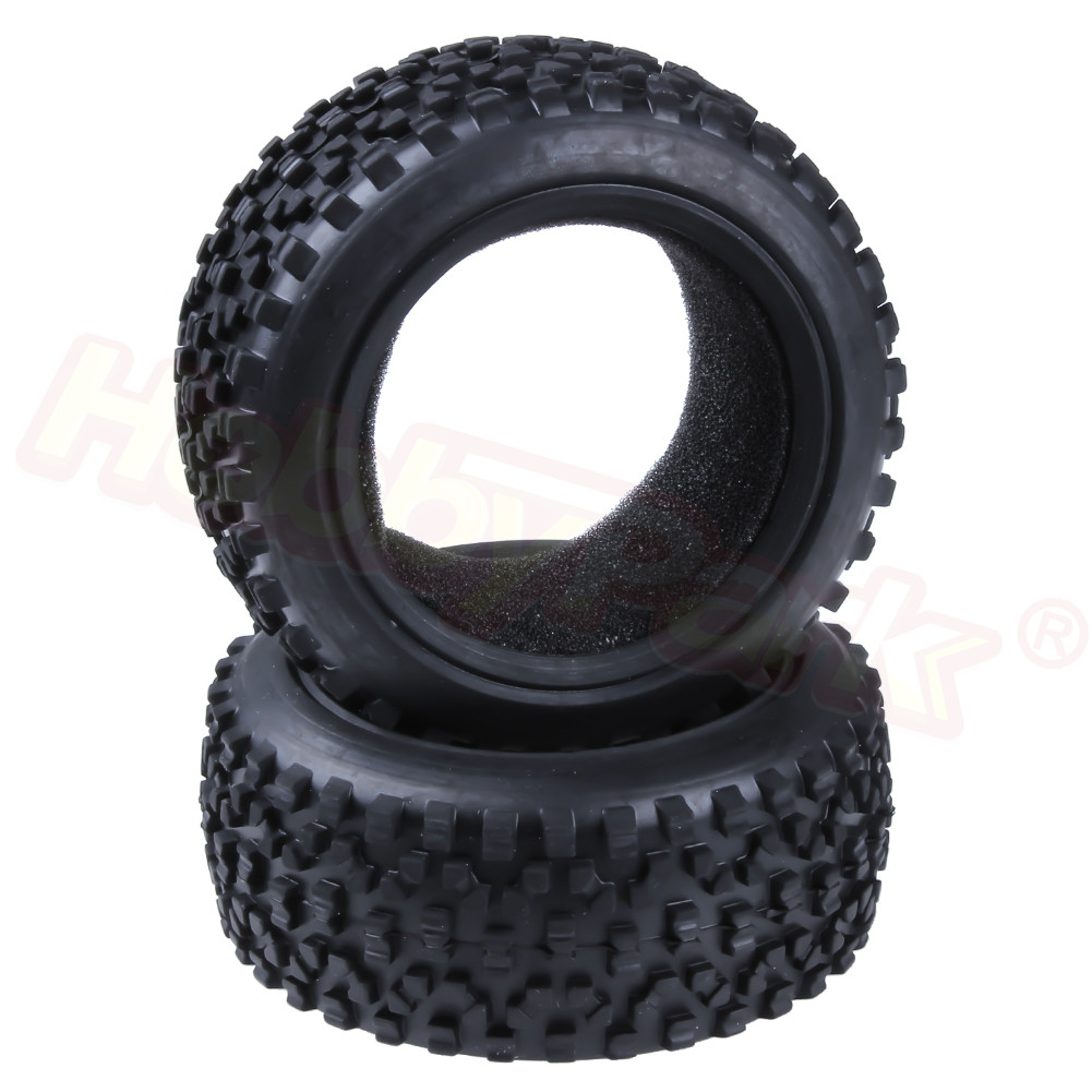 RC Off Road Buggy Tires (Front) With Foam Inserts OD:88mm Width:32mm For 1/10 Scale HSP HPI Himoto Redcat Racing