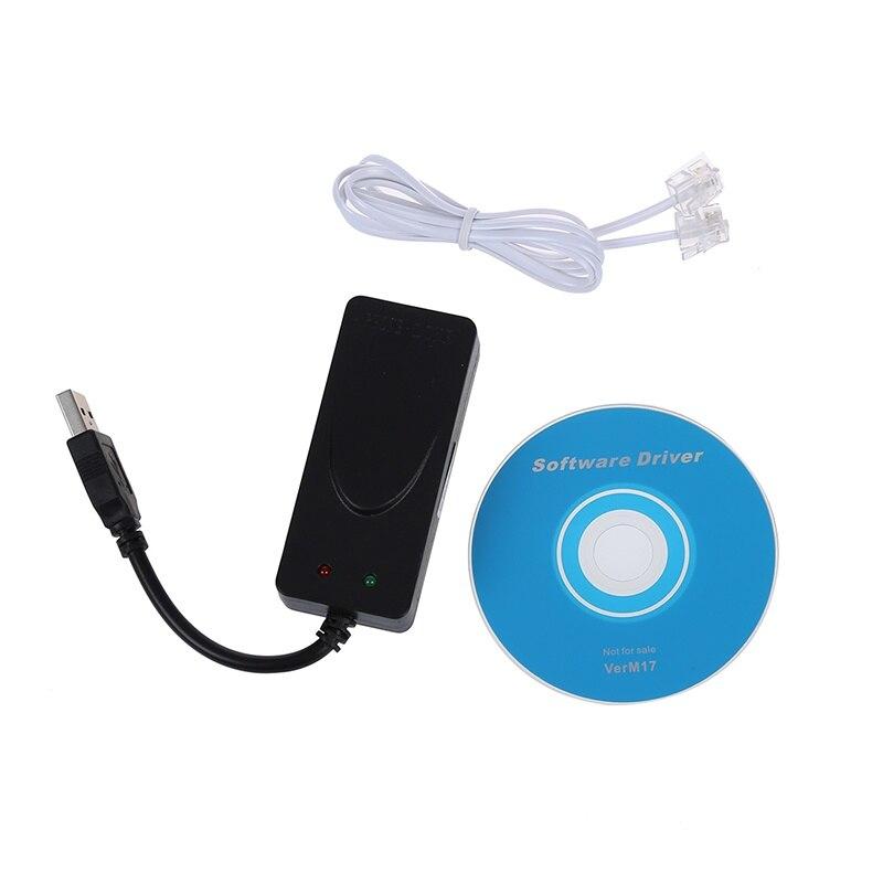 56K данных/факс модем с интерфейсом USB два гнезда, поддержка ID звонящего и отличительное кольцо обнаружения, авто формат/скорость зондировани...