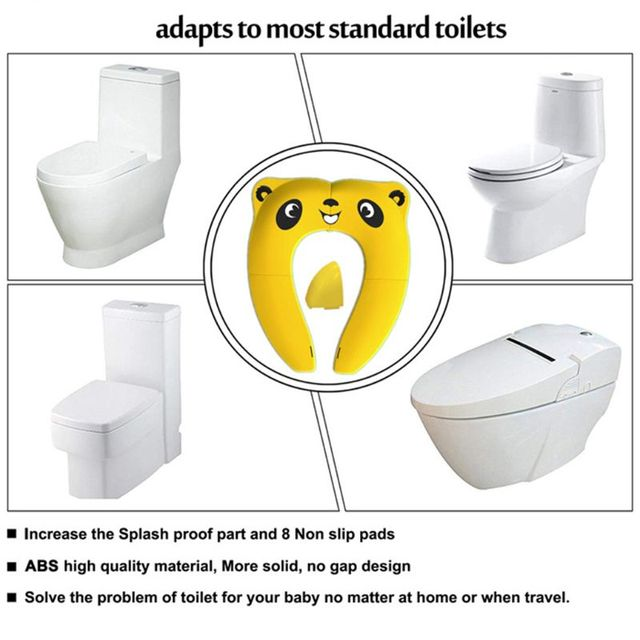Foldable Potty Seat for Toddler Travel Baby Kids Non-Slip Reusable Toilet Training Seat | Happy Baby Mama