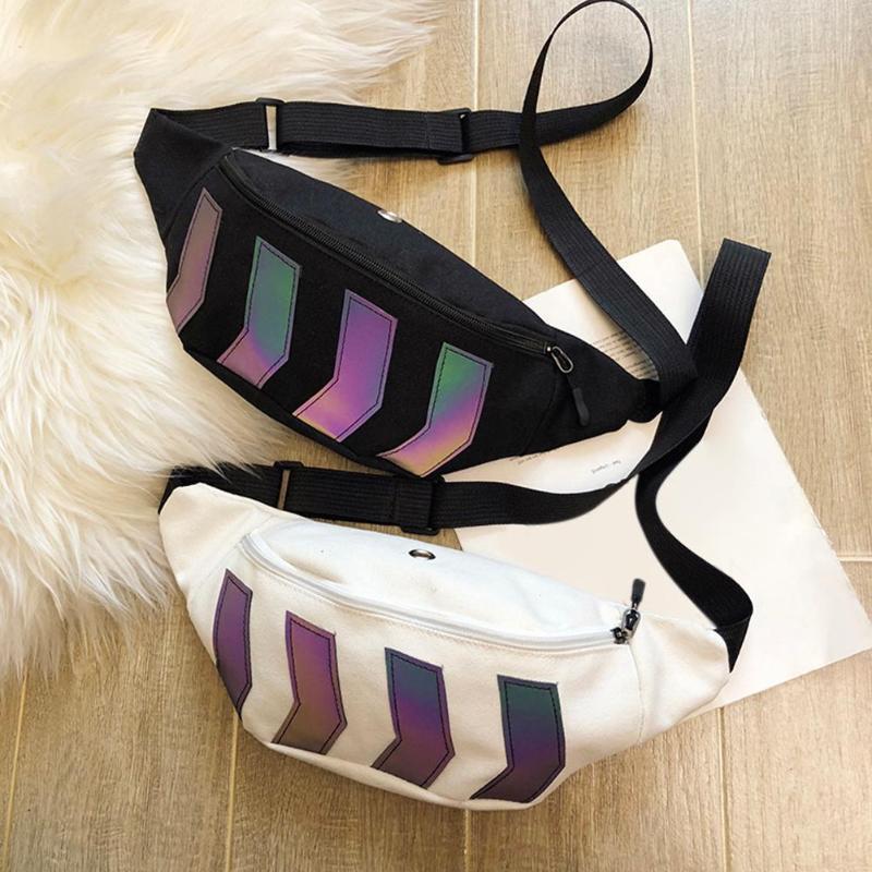 Fashion Fanny Canvas Belt Chest Bag For Women Men Hip Hop Shoulder Messenger Packs Party Daily Money Purse Phone Pouches Bags