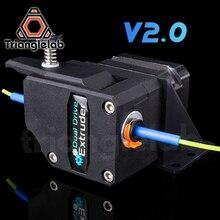 Trianglelab o wysokiej wydajności wytłaczarki BMG V2.0 sklonowany Btech wytłaczarki Bowden podwójny napęd wytłaczarki do 3d drukarki ENDER3 CR10 MK8