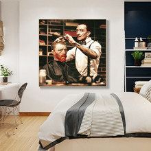 Funny Character Portrait Art Van Gogh Haircut Posters and Prints Canvas Paintings Wall Art Pictures for Living Room Decor