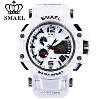 SMAEL Men Quartz Digital Watch Mens Sport Watches Electronic Military Wrist watch Male Waterproof Clock 1509 Relogios Masculino