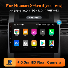 Awesafe PX9 Voor Nissan X-Trail T31 2007-2013 X Trail Auto Radio Multimedia Video Player Gps Geen 2din 2 Din Android 10.0 2Gb + 32Gb