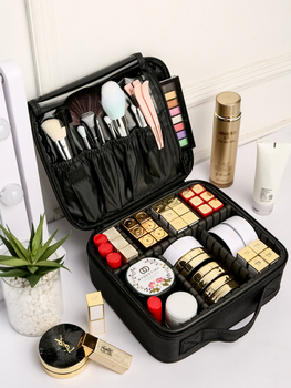Portable Cosmetic Bag Travel Makeup Case Zipper Make Up Storage Organizer Multifunctional Beauty Makeup Bag Makeup Brush Holder 3 size empty portable travel makeup brushes round pen holder cosmetic case pu leather cup brush holder tube storage organizer