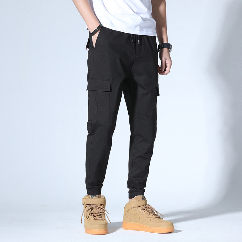 Lively Fella Pants Summer Casual Capri Men's Trousers Korean-style Slim Fit Pants Beam Leg Harem Pants 1058