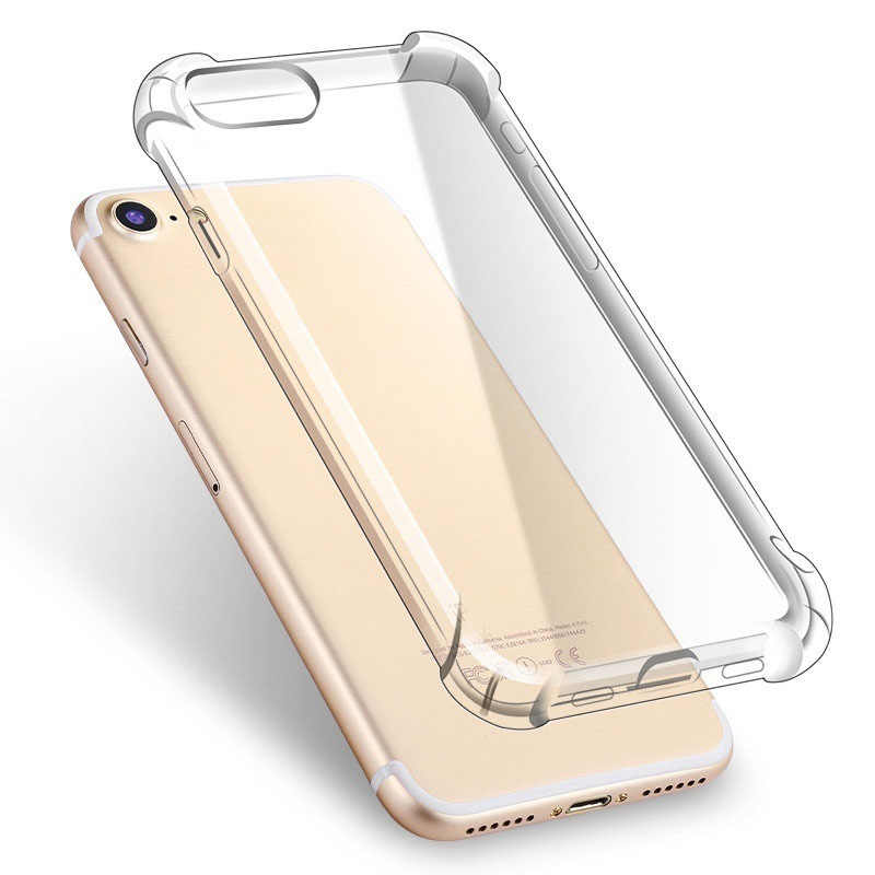 Trong Suốt TPU Mềm Trường Hợp Ốp Lưng Cho iPhone 7 Dẻo Silicone Ốp Lưng Iphone 8 Plus Ốp Lưng iPhone 7 Plus Full Bao Pha Lê trong Suốt Cho Apple