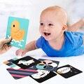Детские Обучающие карты Монтессори, черно-белые флеш-карты, высокая контрастность, Визуальная стимуляция, детские подарки