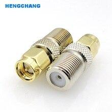 цена на F Type Female Jack to SMA Male Plug Straight RF Coax Adapter F connector to sma Convertor