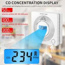 2021 Sensor Carbon LCD Carbon Monoxide Detector Digital Warning CO Gas Alarm Battery Power Detector Alarm Security Alarm