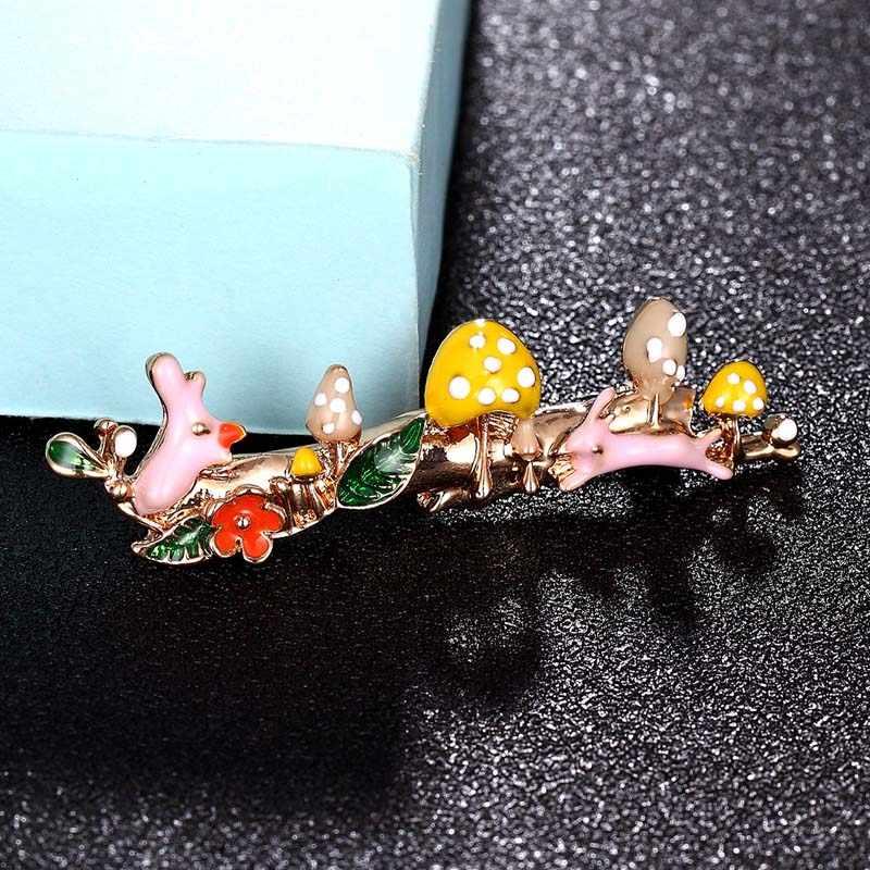 Zlxgirl Dello Smalto di modo del fiore e spilla coniglio gioielli di metallo di marca di colore dell'oro Hijab Spilli Copre il Vestito Accessori Per cappelli