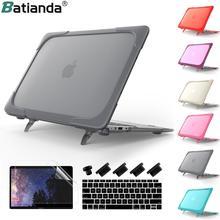 Противоударный чехол с подставкой для MacBook Pro retina 13 15 дюймов /Air 11 13,3 жесткий защитный чехол из пластика и тпу