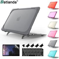Shockproof Kickstand Case for MacBook Pro Retina 13 15 inch 2019 2018 2017 / Air 11 13.3 Hard Plastic & TPU Protective Cover