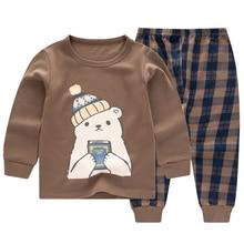 children Underwear Suit Pure cotton Children Thin money baby pajamas Cotton Boys Girl Cartoon Sleeping pants