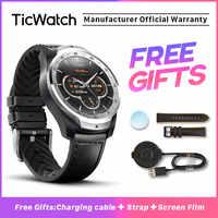 TicWatch Pro argent montre intelligente affichage en couches montre Bluetooth avec GPS paiement NFC IP68 Google Play Original