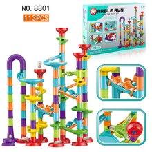 Building-Blocks Marble with Bricks Parts Educational-Toys DIY Fun Crazy Compatible 93/50/45pieces-set