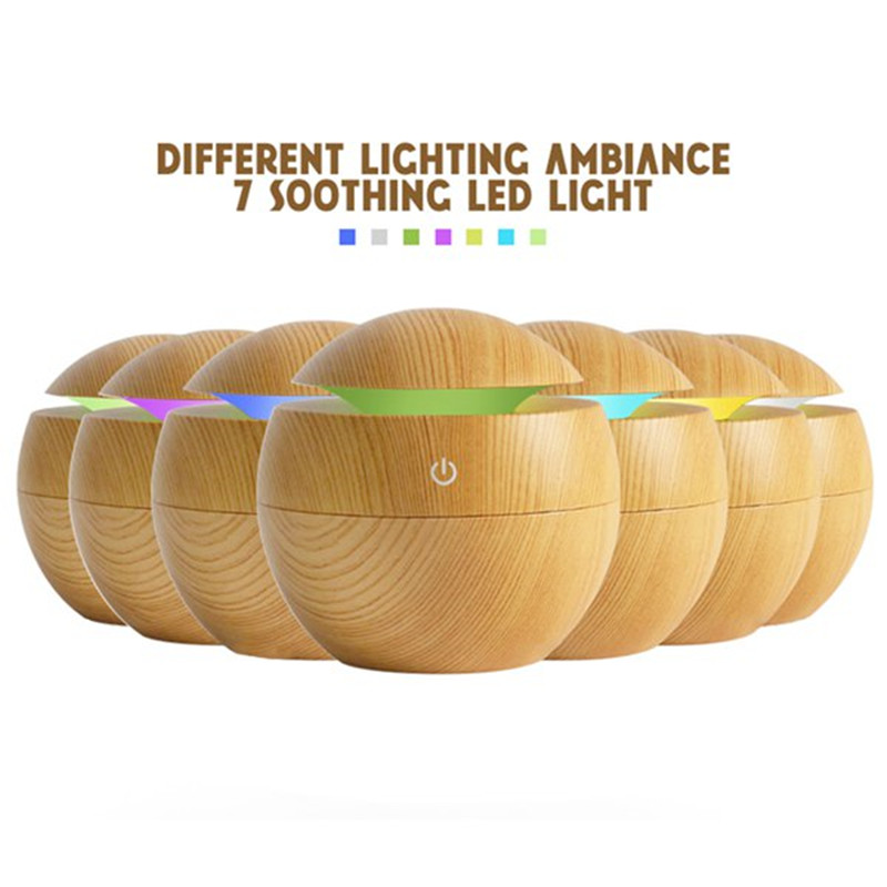 USB Aroma Humidifier ESSential Oil Diffuser Ultrasonic Cool Mist Humidifier Air Humificador With 7 Color Change LED Night Light