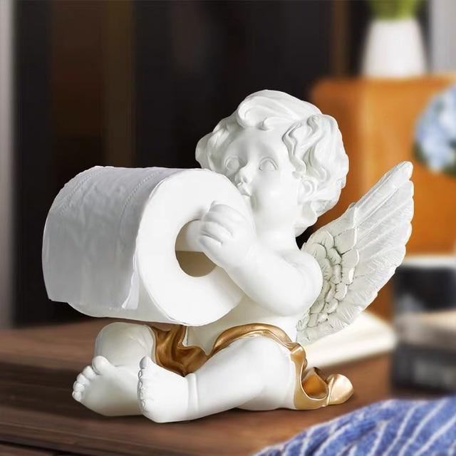 Porte Papier Toilette Vintage - Ange Sculpté