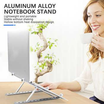 Portable Laptop Stand Foldable Aluminum Adjustable Desktop Tablet Holder Desk Table Support Base Notebook Stand Holder for Macb - Category 🛒 All Category