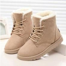Женские ботинки; теплые зимние ботинки; женские ботильоны из искусственной замши; женская зимняя обувь; Botas Mujer; плюшевая обувь