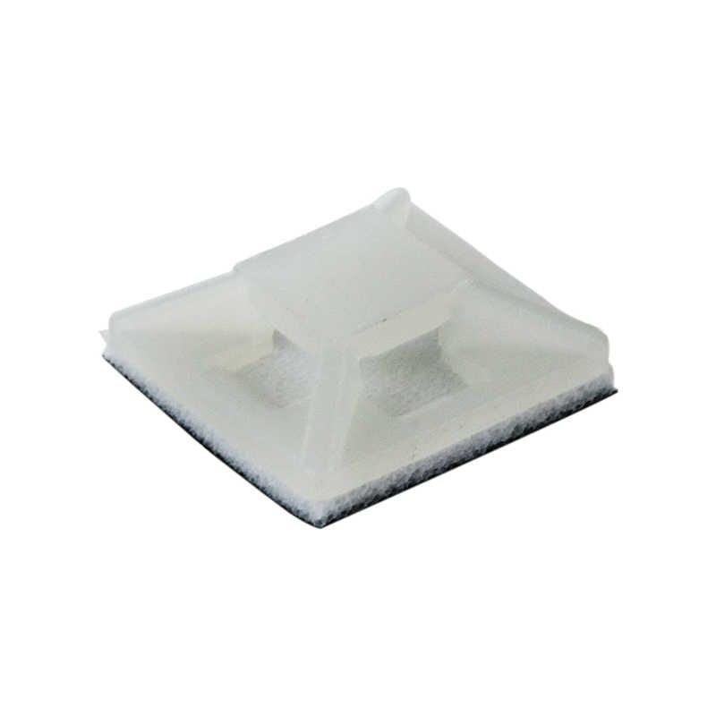 Auto-Adesivo di Plastica Filo Bundle Holder 3 millimetri Cable Tie Mount Base di 100Pcs