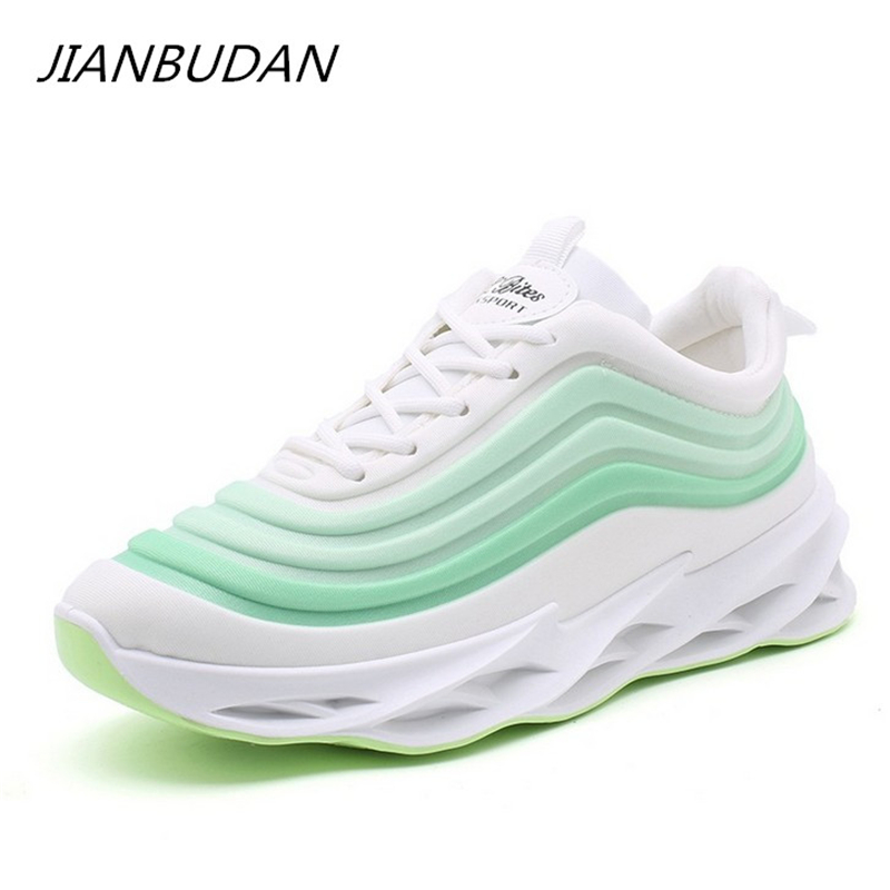 JIANBUDAN Casual Sneakers Breathable Comfortable Spring Autumn Sneakers Women's Fashion Outdoor Running Shoes Thick Bottom Shoes