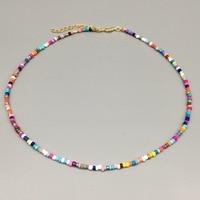 Simple perles de rocaille brin collier femmes chaîne perlée courte femmes collier bijoux 16 pouces Chokers collier cadeau