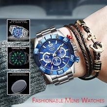 Reloj 2020 New Top Brand Luxury Watches Mens LIGE Sport Waterproof Watch Men Luminous Chronograph Mens Watches Relogio Masculino