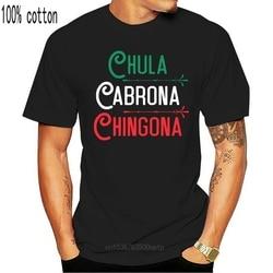 Mexicana chula cabrona chingona mexicano menina camisa-camisa masculina-preto