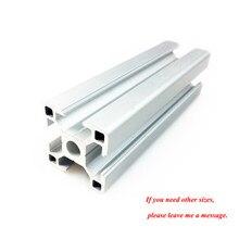 1PC 3030 profil aluminiowy wytłaczanie 100-800MM długość europejski Standard anodyzowana szyna liniowa dla DIY CNC 3D drukarki Workbench