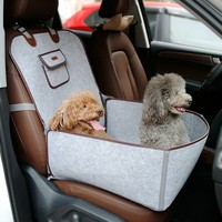 2 in 1 Pet Front Seat Cover Protector for Cars Dog Seat Cover for Cars Waterproof Pet Bucket Seat Cover