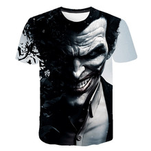 2021 Esquadrão de suicídio 3d impresso t camisa dos homens coringa rosto casual o-pescoço palhaço masculino camiseta manga curta c