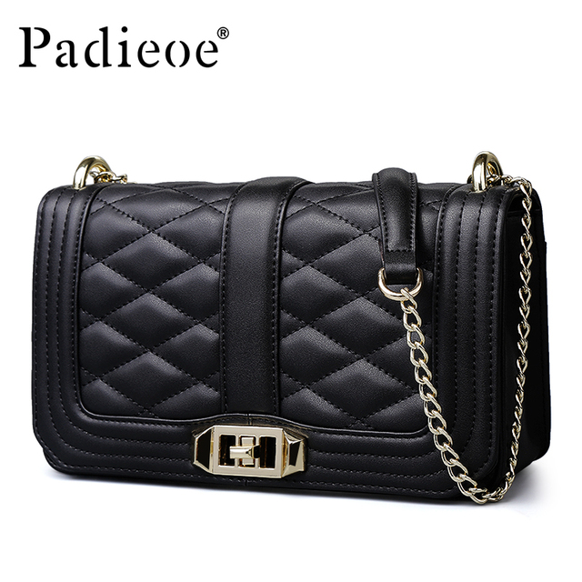 $ US $38.54 Padieoe 2019 new bags for women messenger bag leather luxury shoulder bag  evening bag fashion crossbody purse vintage