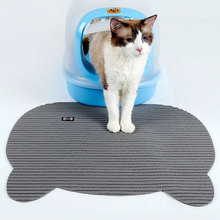 Non Slip cat Litter Lock Mat Disposable Pet Cat Toilet Trapping PVC Foamed Bowl Food