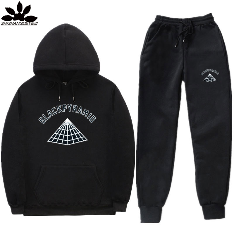 New Design Brand Fashion Pyramid Sign Men Sportswear Print Men Hoodies Pullover Streetwear Mens Tracksuit Sweatshirts Clothing
