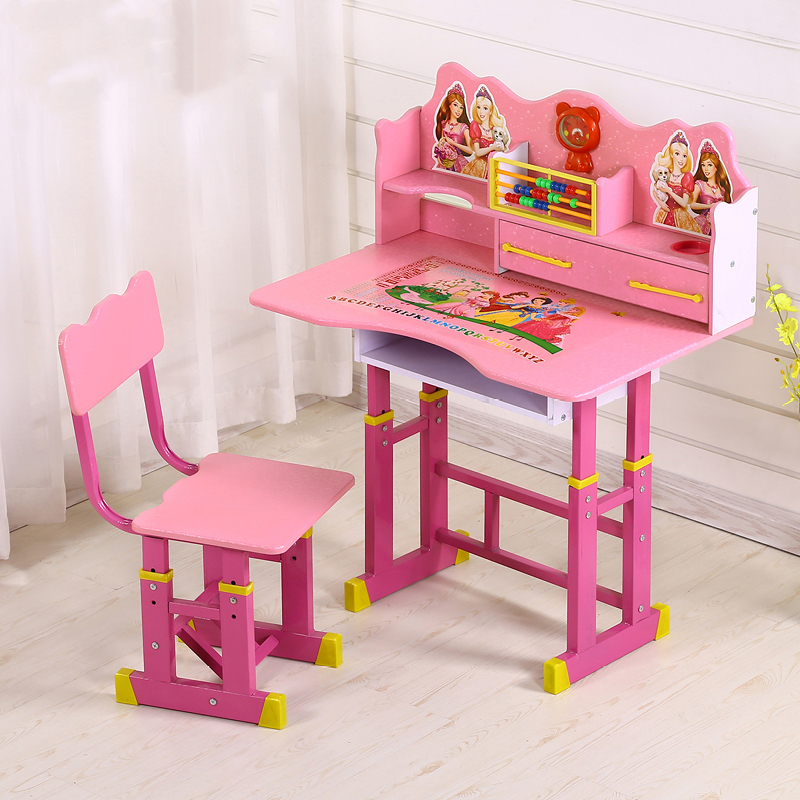 Children's Desk Bookcase Combination Desk Student Boy Lifting Desk Home Simple Writing Desk And Chair