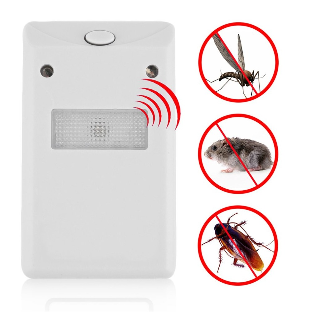 Mosquito Killer Detector Ultrasonic Electronic Pest Reject Sensor Rat Repellent Insect Repeller US Plug Universal