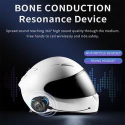 PGDM Helmet Headset Bone Conduction Bluetooth Wireless Stereo Hands Free IP68 Waterproof Rainproof Motorcycle Helmet Headphone