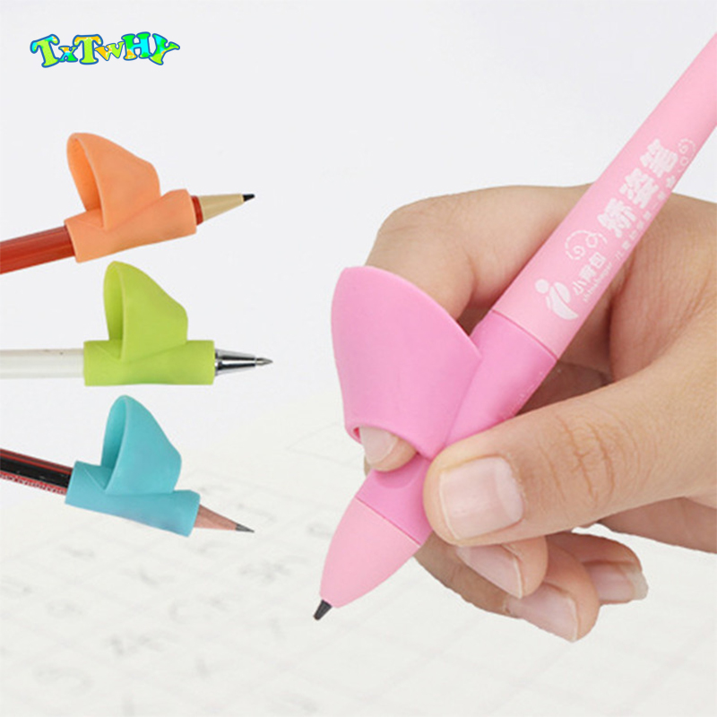3pcs Writing Corrector Pencil Grip Montessori Toys For Children Kids Learning Holding Device Correcting Pen Holder Postures Grip