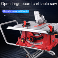 10 inch Electric Industrial Multifunction Wood Board Saw Push Table Saw Machine For Wood Plastic Aluminum Cut