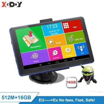 цена на Xgody 7''  886 Plus Android Car Gps Navigation 768M+16GB Truck Gps Navigator Wifi Touch Screen Sat Nav Free Map Spain EU 2020